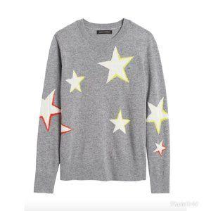 Banana Republic Merino Wool Star Print Sweater S
